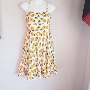 Louche ditta pineapple mini sweetheart dress